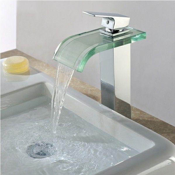 moderne robinet d évier cascade salle de bain avec verre bec