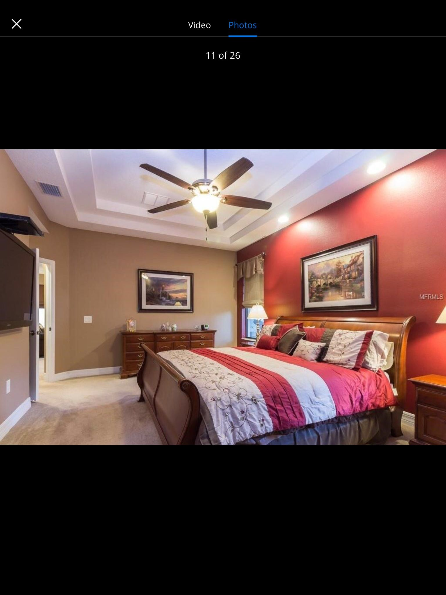 Burgundy And Gray Bedroom Burgundy Accent Wall With Tan Walls Master Bedroom
