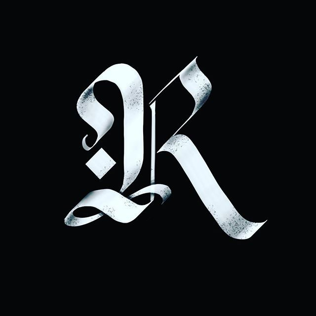 R 36 Days of Type Blackletter Pinterest Calligraphy
