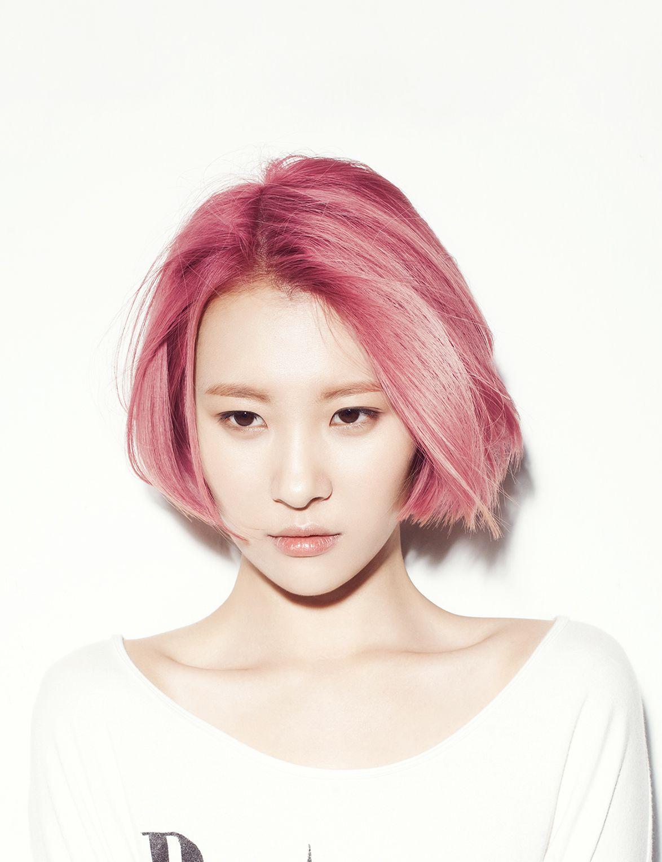 Kpop Hq Pictures Semi Hiatus Pink Hair Short Hair Styles Hair Styles