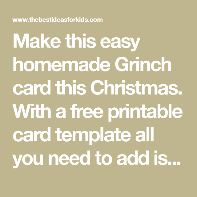 Grinch Card In 2021 Free Printable Card Templates Free Gift Cards Free Gift Cards Online