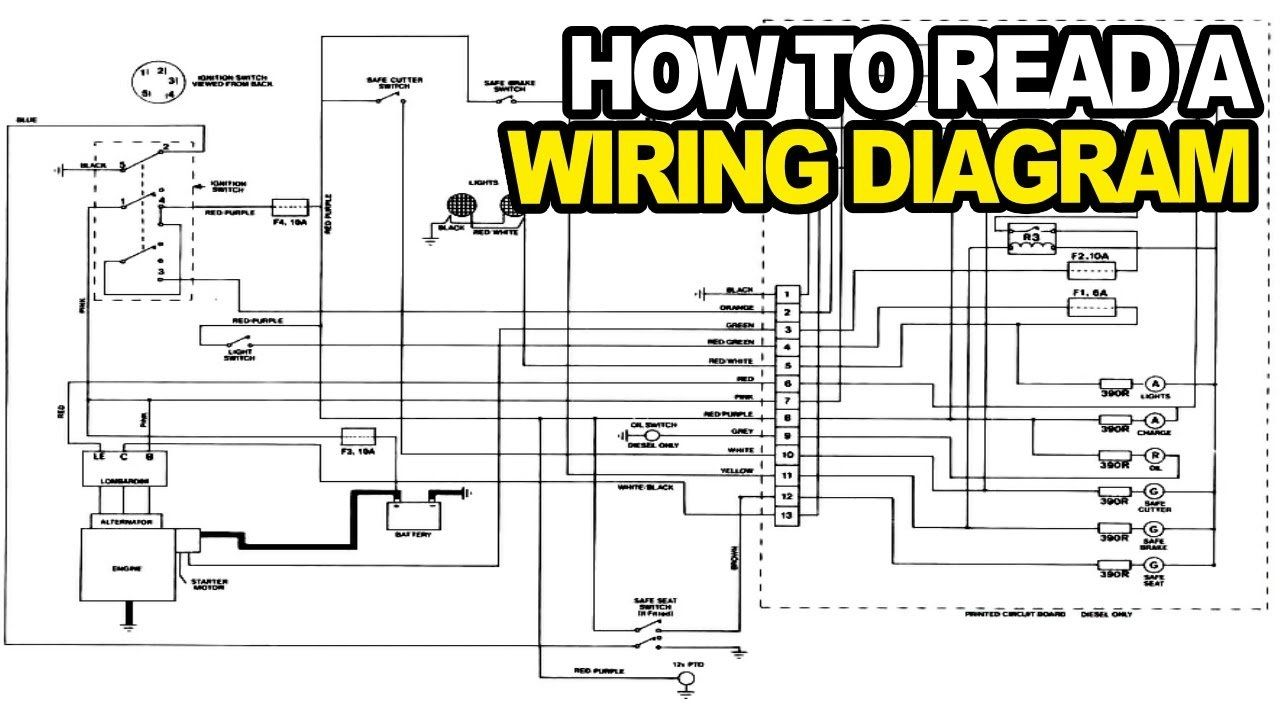 hight resolution of how to read an electrical wiring diagram youtube within auto electrical schematic