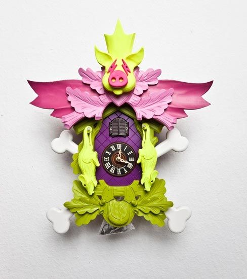 Extremely Ideas Modern Cuckoo Clock. With Themes Ranging From Violence To  Death And Even Sex
