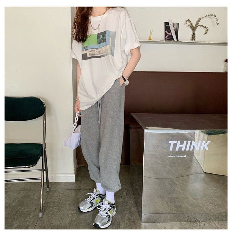 oversized tshirt outfit korean style