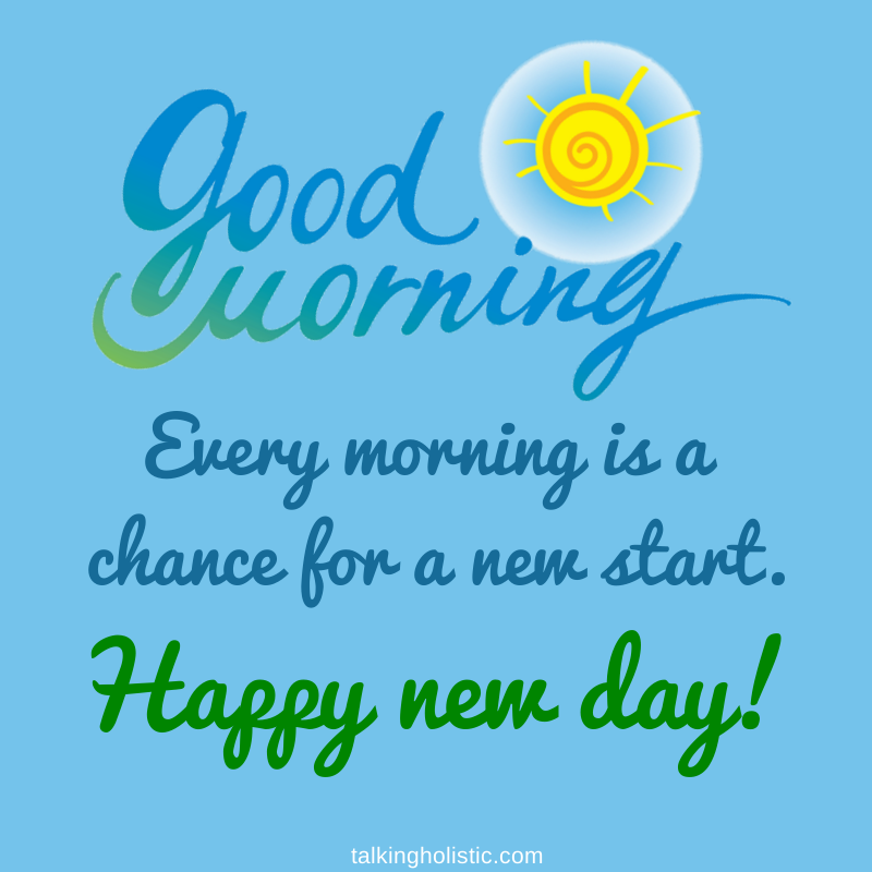 Every morning is a chance for a new start! Be the change today! #bethechange #wellbeing