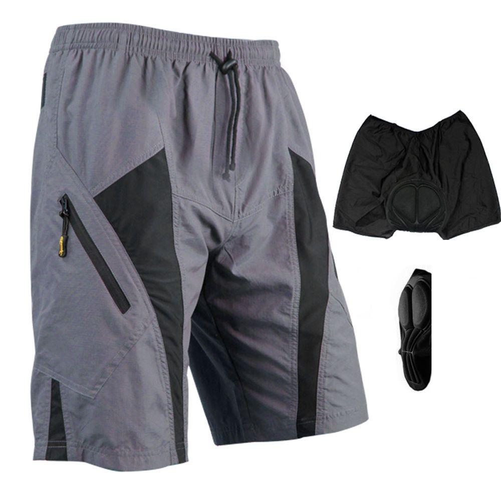Bicycle Shorts Half Pants Men/'s Black Cycling Mountain Bike No padding