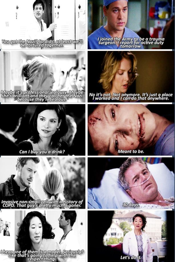Greys anatomy first and last words | Television | Pinterest | Grays ...