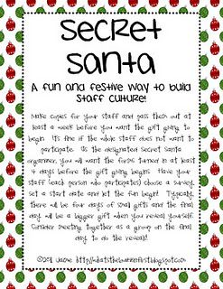 Secret Santa Classroom Freebies Work Secret Santa Secret Santa Form Funny Secret Santa Gifts