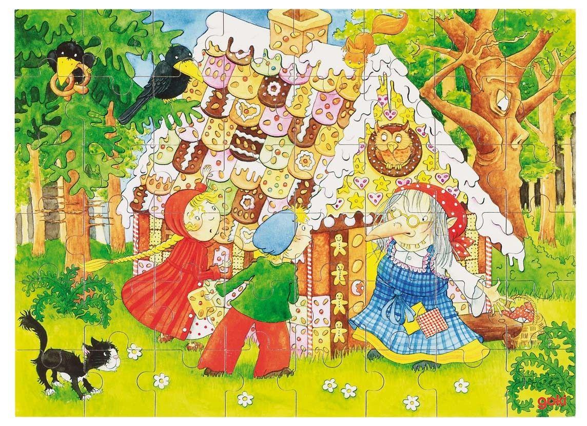 Puzzel Hans En Grietje Sprookjes Haan Thema