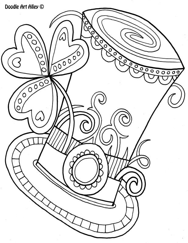 Doodle Art Alley Coloring Page Patricksdayhat Jpg Coloring Pages