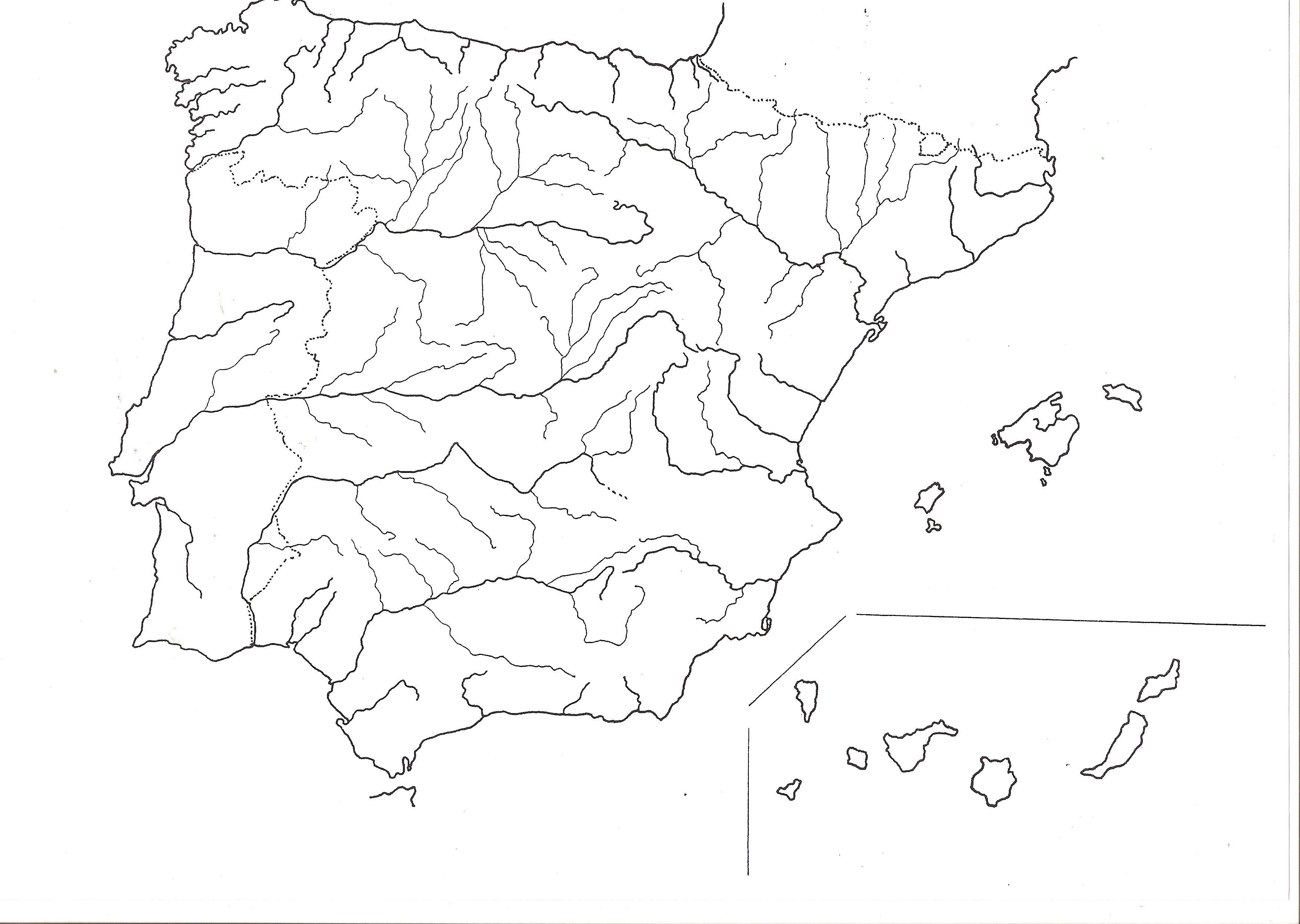 Mapa De España Mudo Rios Para Imprimir.Espana Mapa Rios Rios De Espana Espana Y Mapa De Espana