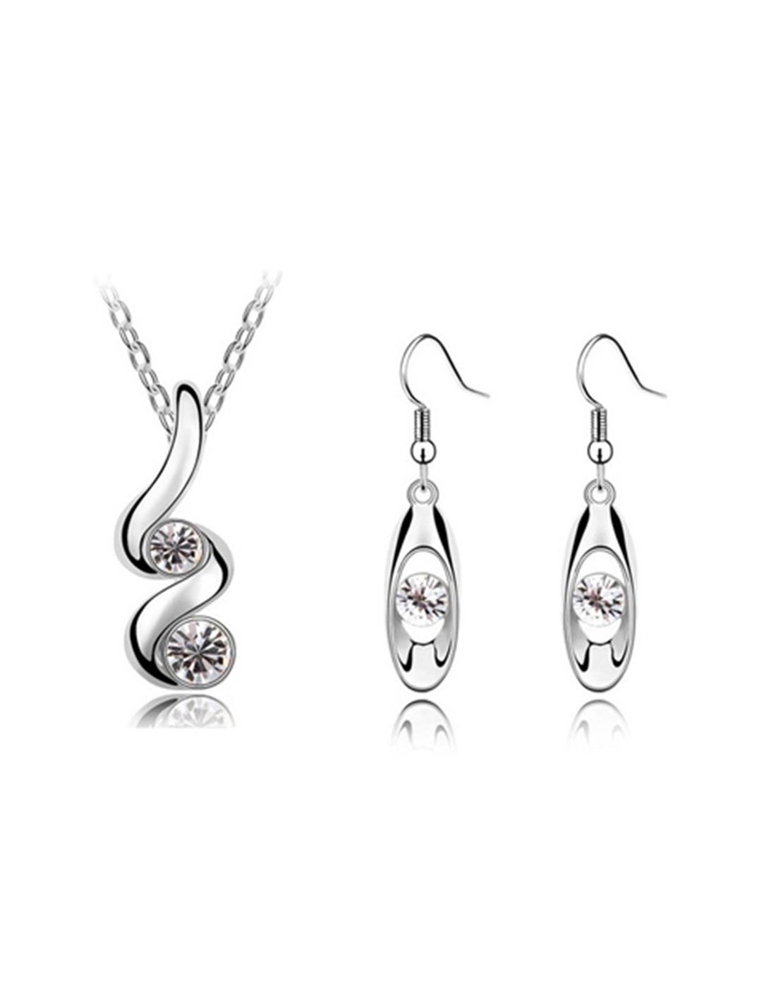 Classi csprout crystal earrings necklace jewelry set adorewe