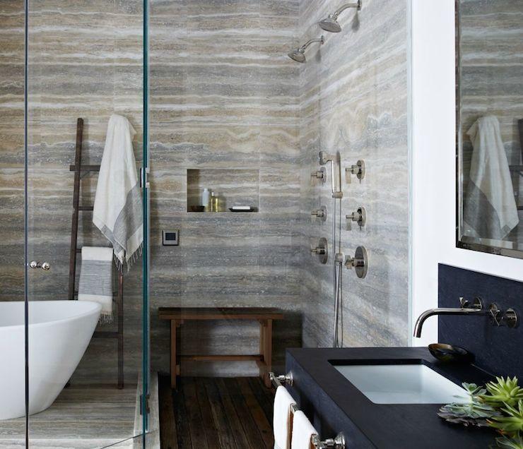 Super Deco, idées déco pas cher douche-italienne-grise-blanche - Salle De Bain Moderne Grise