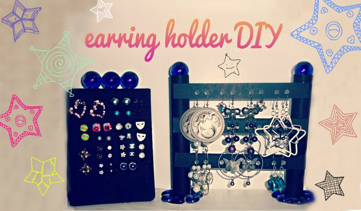 ♥ earring holder DIY ♥