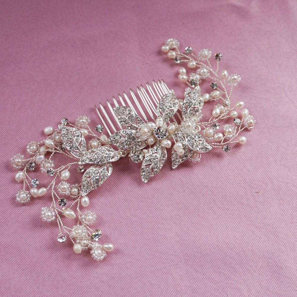 find more hair jewelry information about silver bridal hair comb