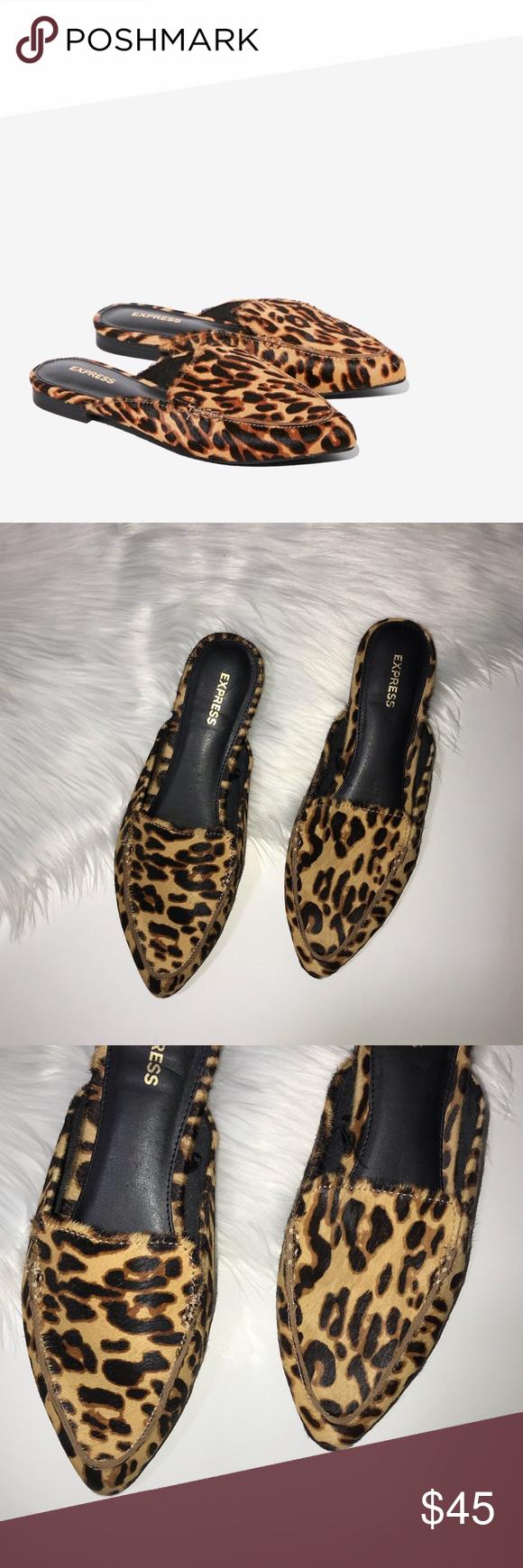 Express Leopard Calf Leather Print