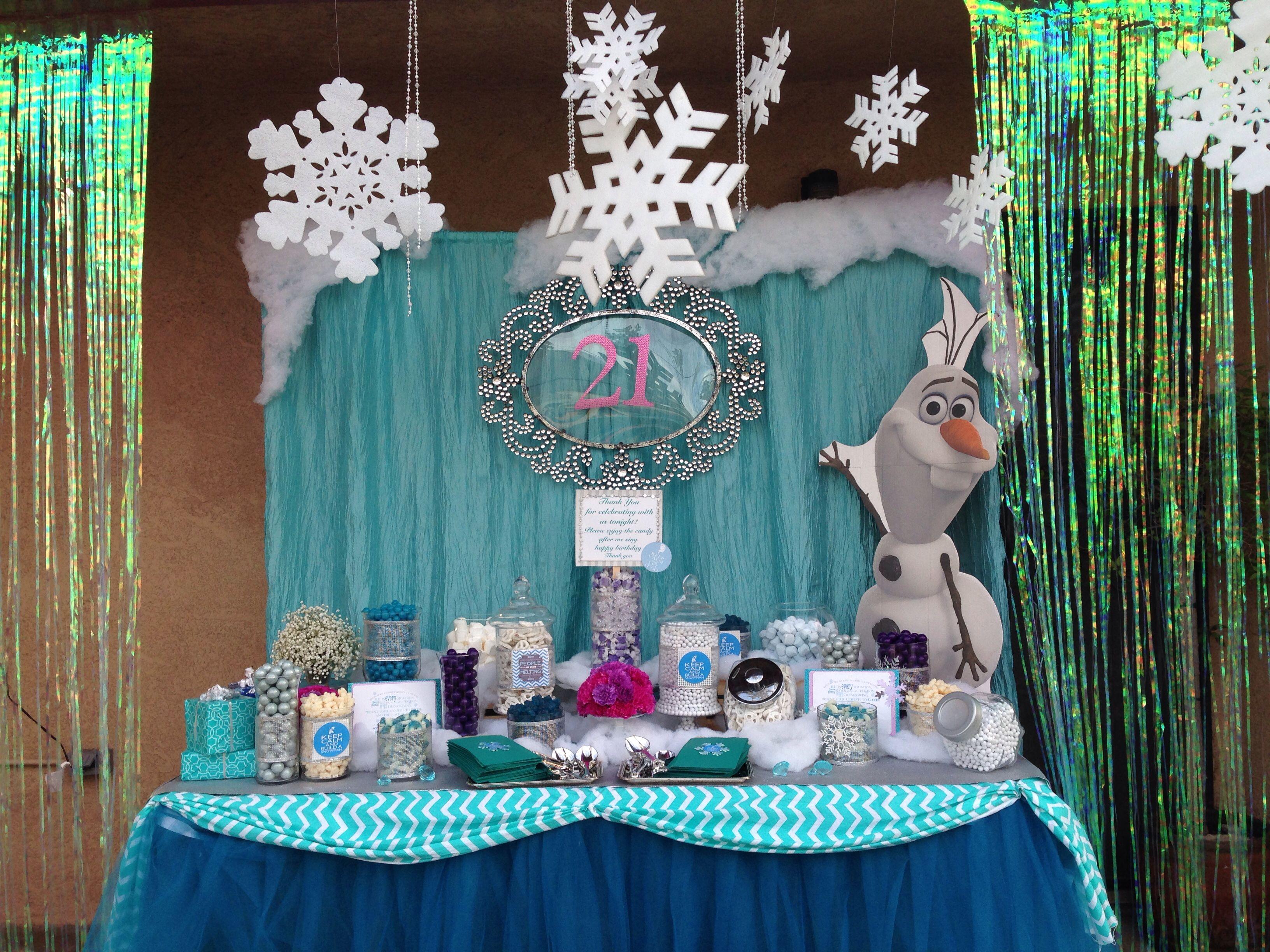 Frozen Theme Candy Table Cosas Para Comprar Cosas Cumple