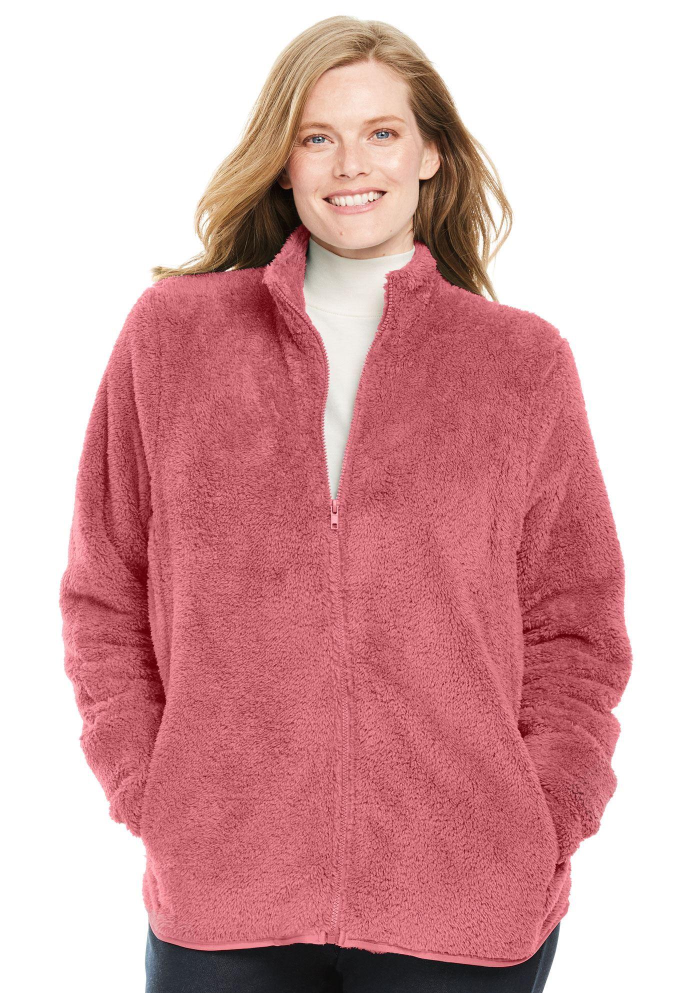 eabdeba767a Fluffy Fleece Jacket - Women s Plus Size Clothing