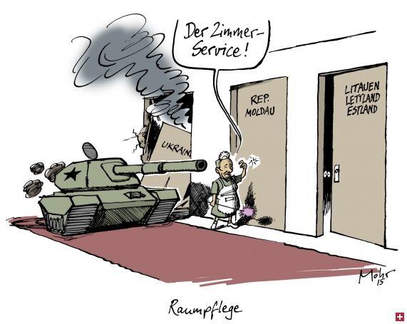 "Putin offering ""Room service!"" He's now knockiing on the door of the republic of Moldavia."
