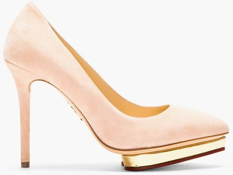 Love this: Blush Suede Pointed Debbie Pumps @Lyst