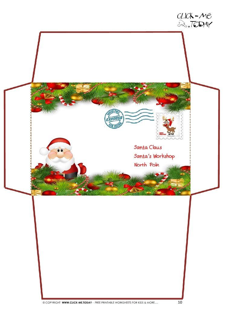 30 Labels for Envelopes Template in 2020 Christmas