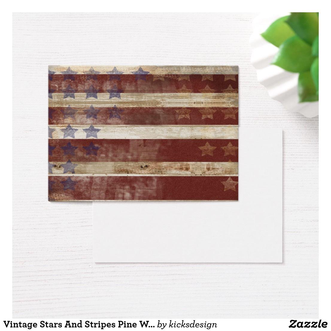 Stars Stripes Print On Natural Pine Wood: Vintage Stars And Stripes Pine Wood Pattern