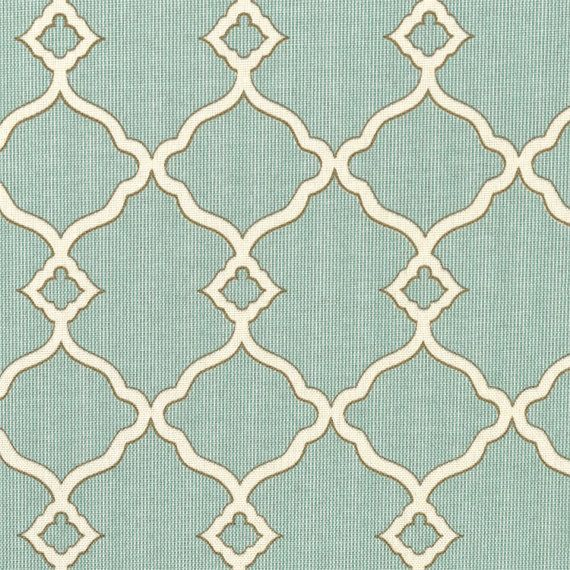 Outdoor Fabric Upholstery Fabric Drapery Fabric Indoor Fabric Seafoam Blue Green Ivory Fabric Umbrella Fabric Home Decor Fabric