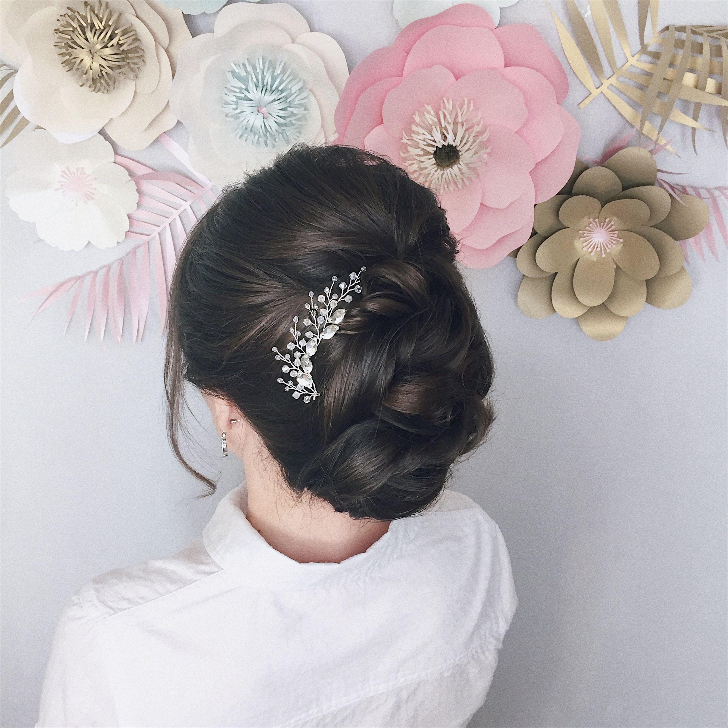Hairstyle for short hair, wedding