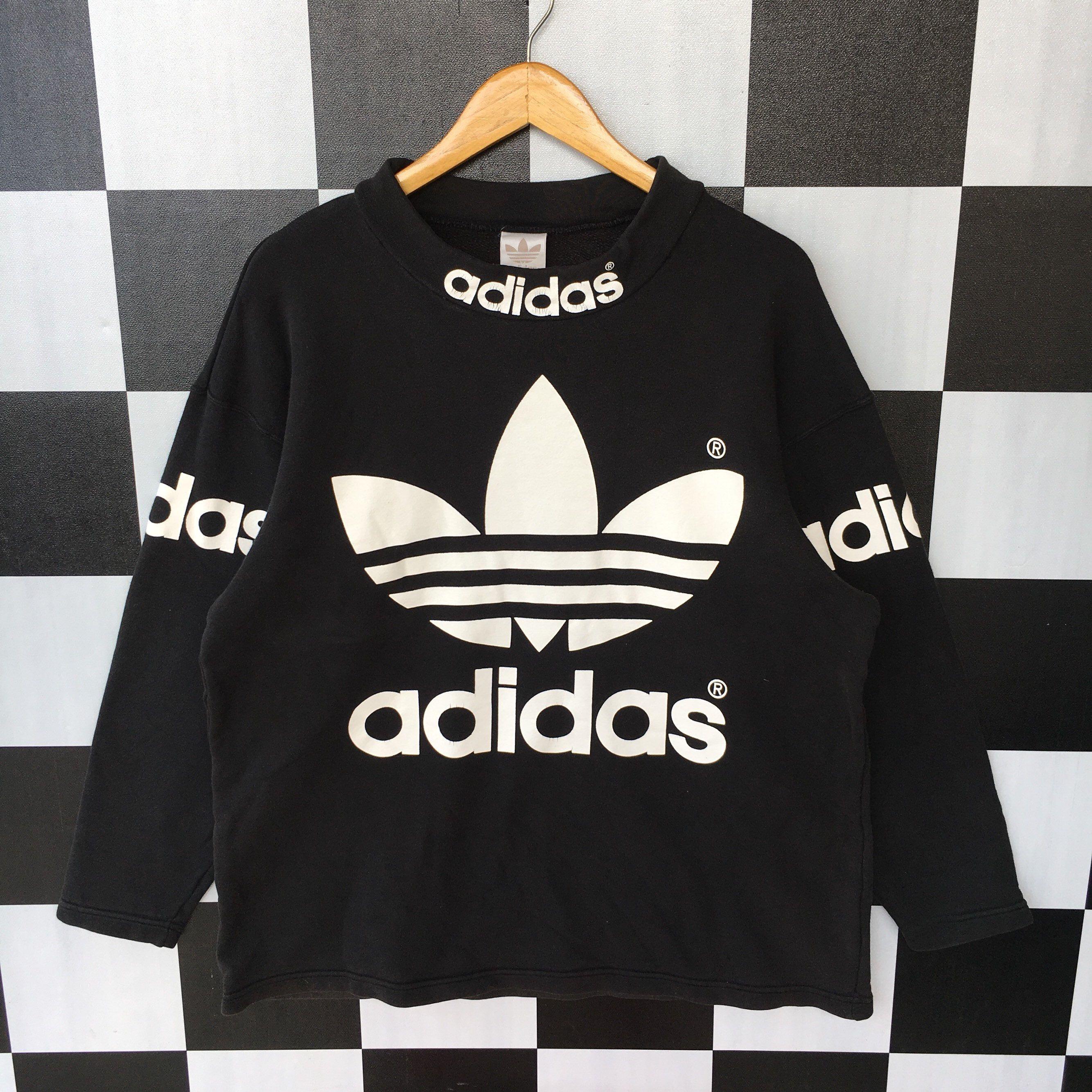 Vintage 90s Adidas Trefoil Sweatshirt Jumper Adidas Three Etsy Adidas Pullover Adidas Three Stripes Sweatshirts [ 2668 x 2668 Pixel ]