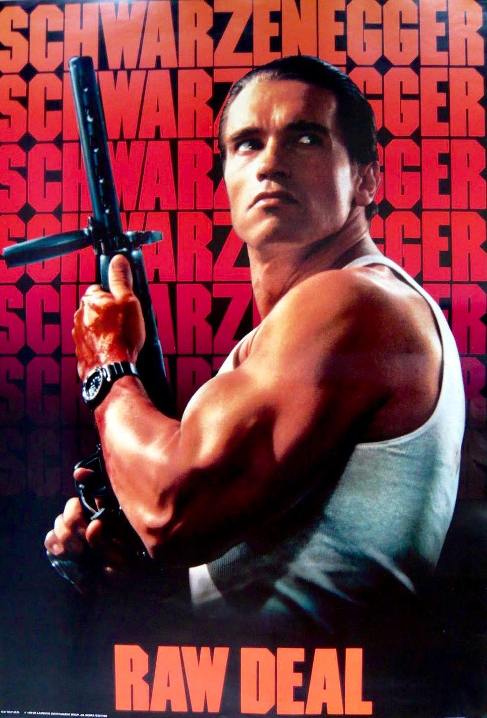 "Arnold Schwarzenegger In ""Raw Deal""1986 Titans"
