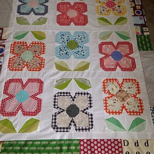 Swedish Bloom Is Finished The Top At Least Ayumills Patchworkplease Flower Quilts Colorful Quilts Flower Quilt