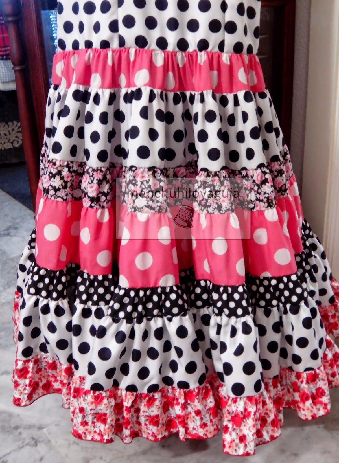 Cómo hacer una falda canastera | Flamenca, flecos | Pinterest ...