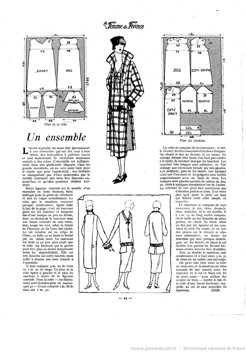 Les Modes de la femme de France | 1920s | Pinterest | Patrones de ...