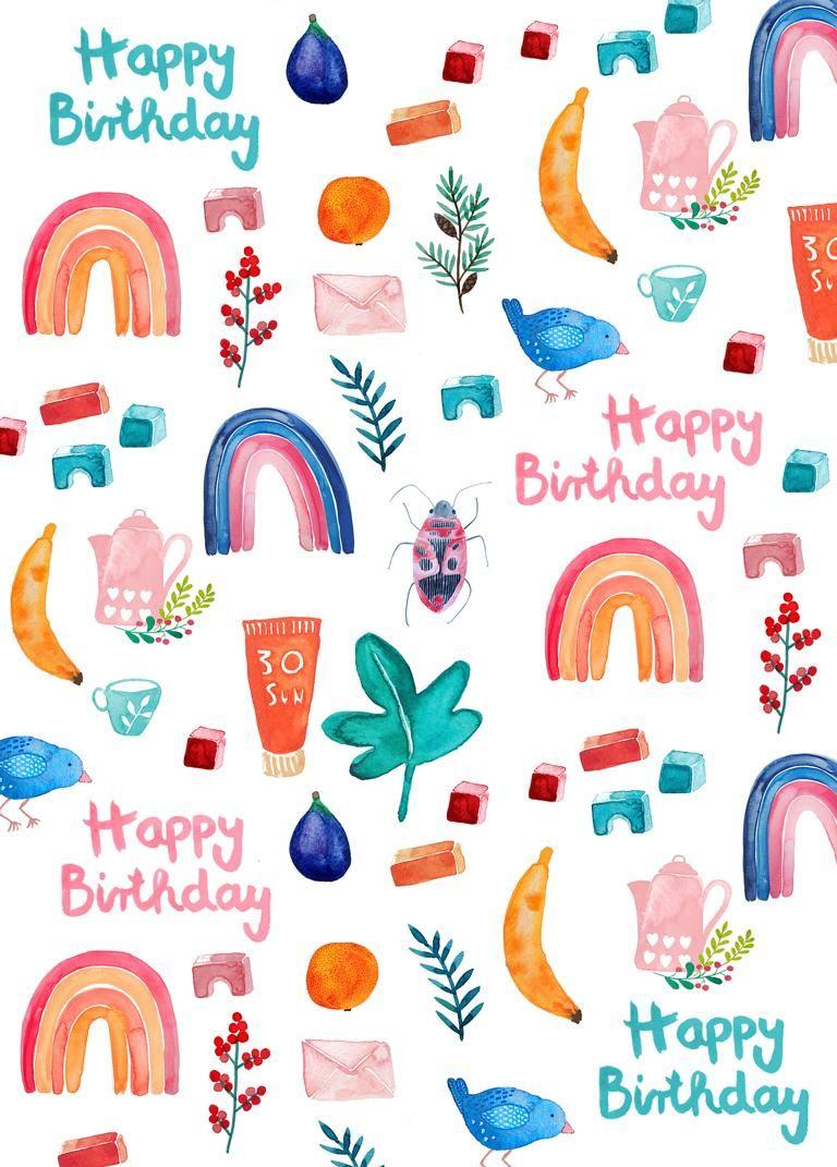 Happy Birthday Karte Für Frauen.Postkarte In Gedanken Bei Dir In 2019 Postkarten Im Hochformat