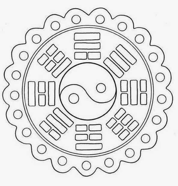 132 Yin Yang Korean Mandala Coloring Pages For Beginner