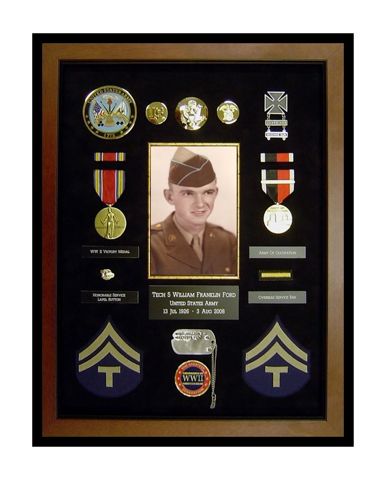 A good friend had his dads medals framed and although had