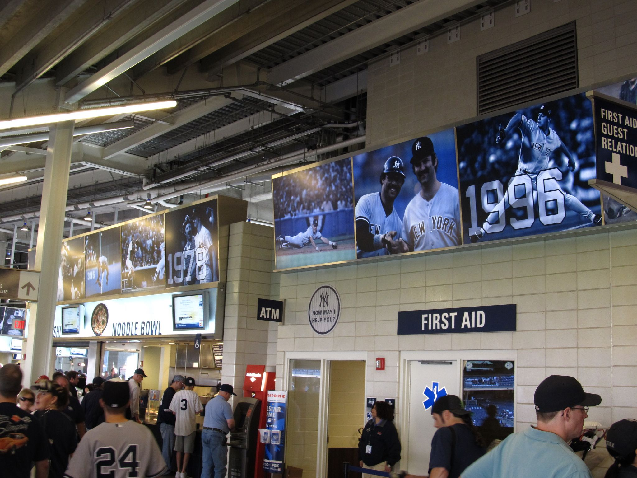 Commemorative Displays of Each Yankee World Series Team Line the Lower Concourse at Yankee Stadium | by Ken Lund