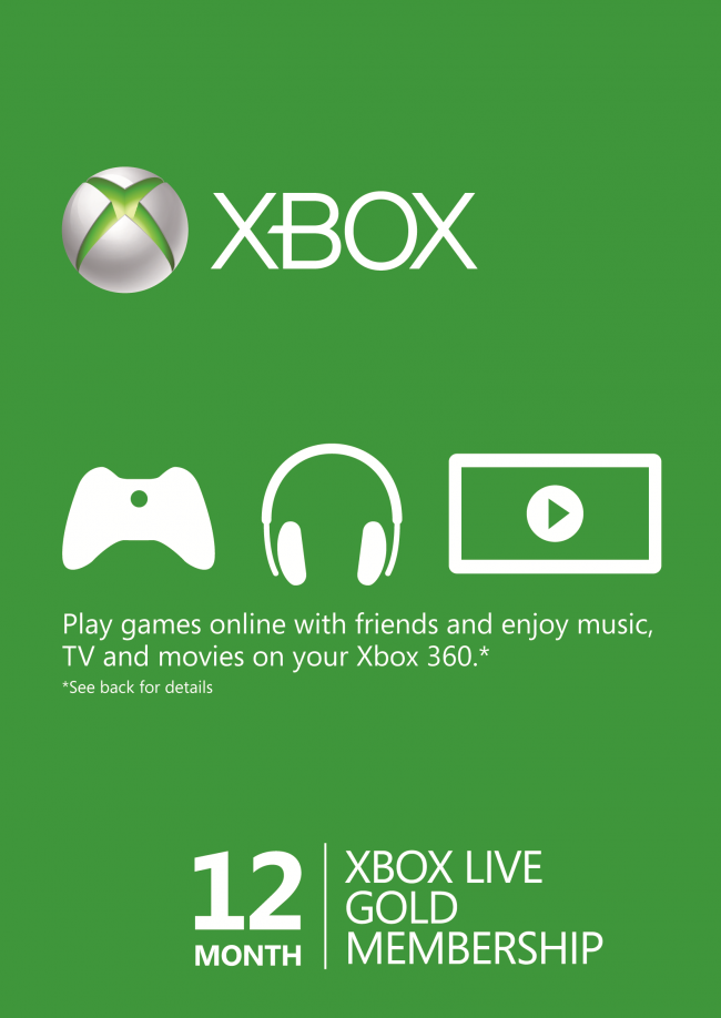 12 Month Xbox Live Gold Membership (Xbox One/360) | Video