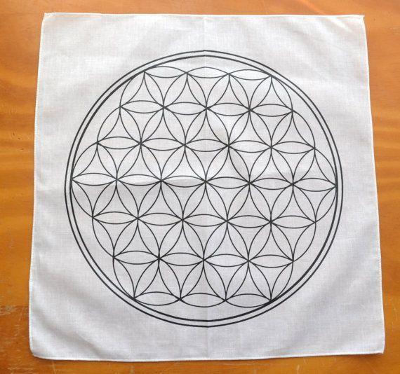 Flor de la vida: geometría sagrada red de algodón
