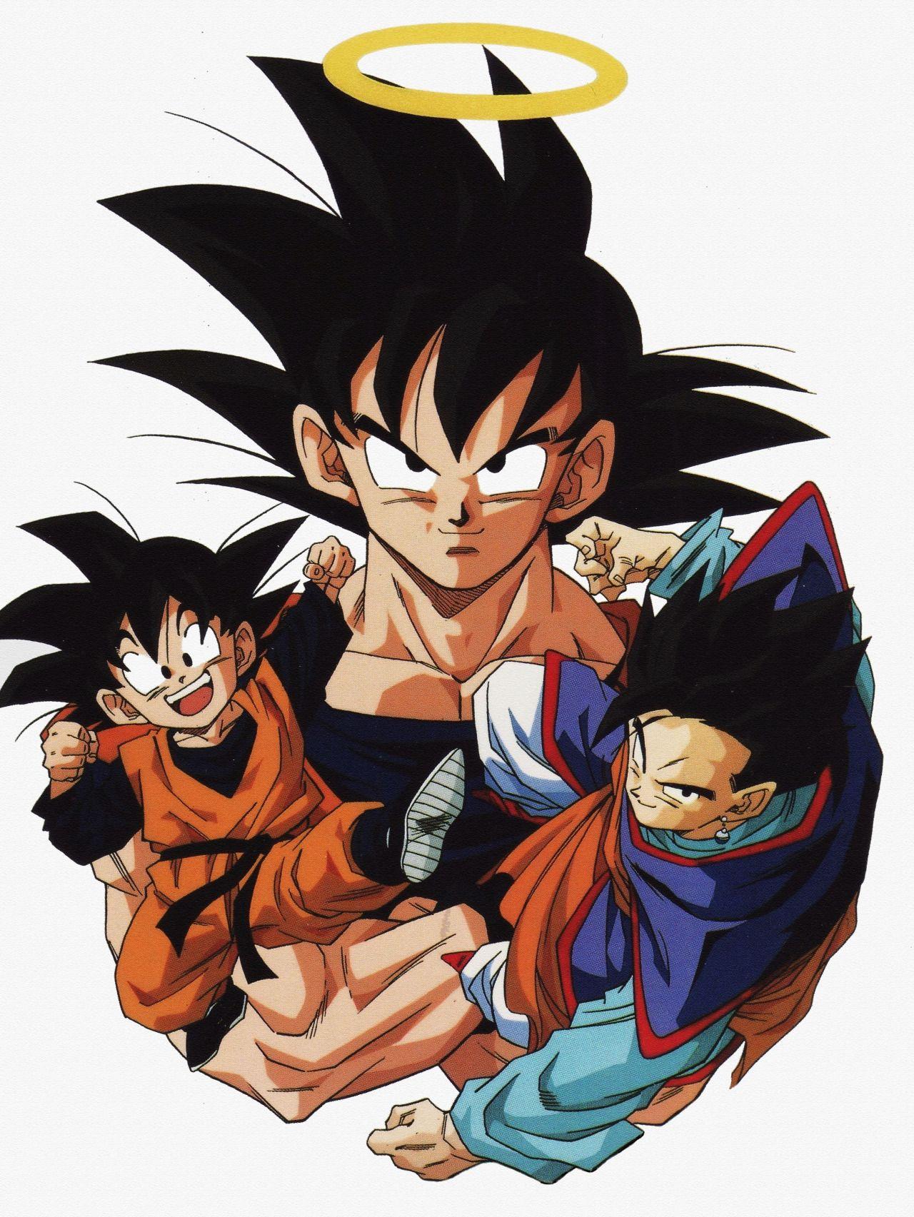 Goku, Gohan, and Goten                                                       …