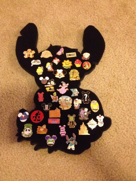 Stitch Disney Pin Display board. 18 tall, can hold about 45 pins