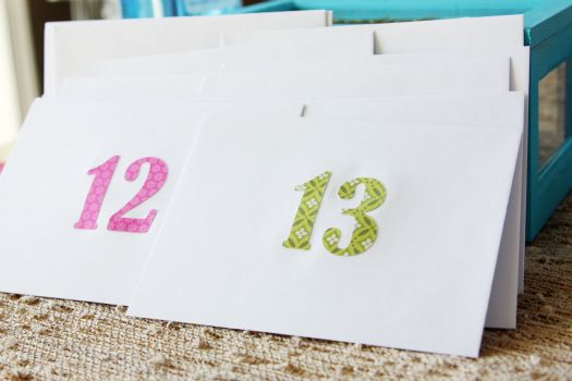 Instead of the typical advent calendar, decorate a wooden box and