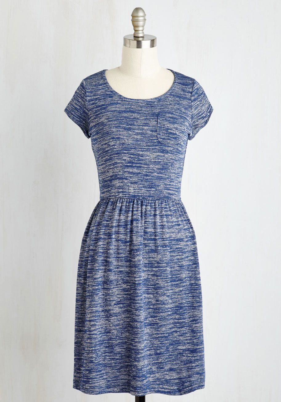 e2b5fc2150 Casual Inclination Dress in Heather Blue - Blue