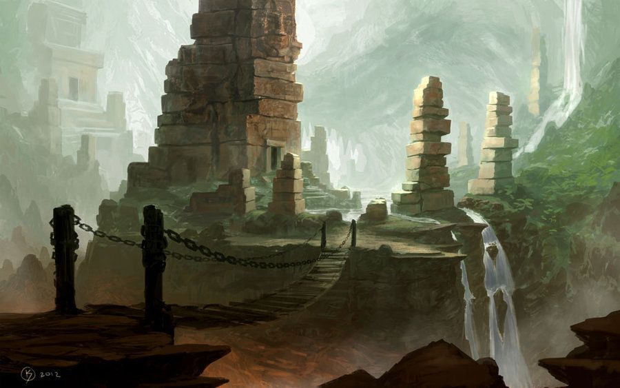 DeviantArt More Like Ancient ruined temple by Icewolfelemental