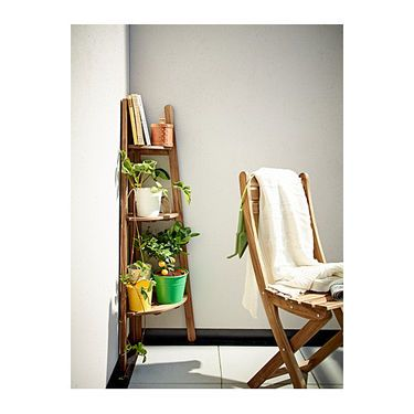 ASKHOLMEN Plant stand grey brown light brown stained grey