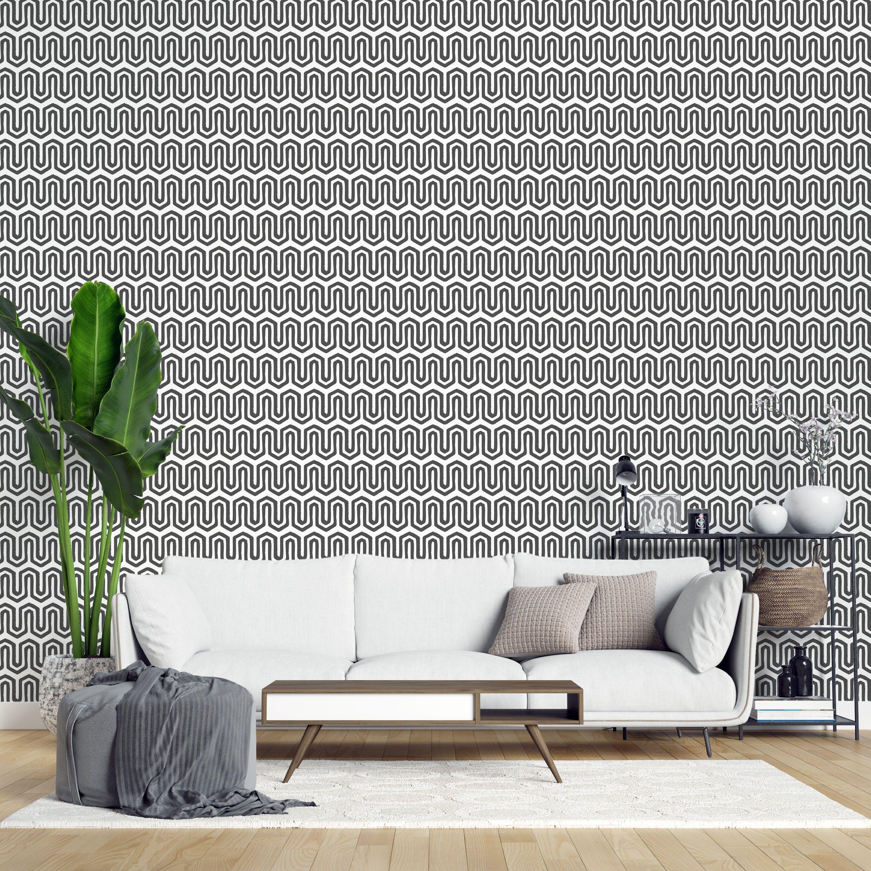 Greek Fret Peel And Stick Wallpaper Greek Key Self Adhesive Etsy Peel And Stick Wallpaper Removable Wallpaper Geometric Removable Wallpaper