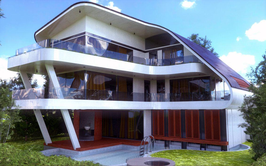 Image result for futuristic house exterior