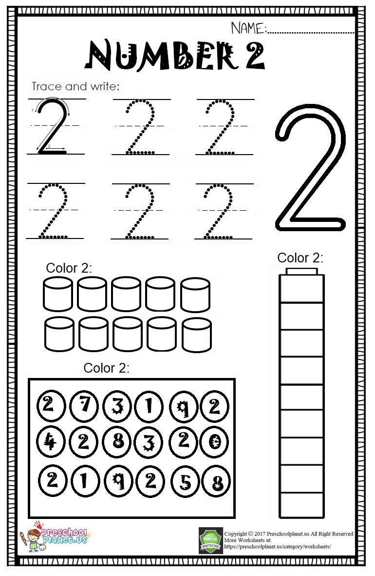 Here Is Number 2 Worksheet For Kids There Are Lots Of Activities On This Worksheet To Practice Kids Math Worksheets Worksheets For Kids Numbers Kindergarten