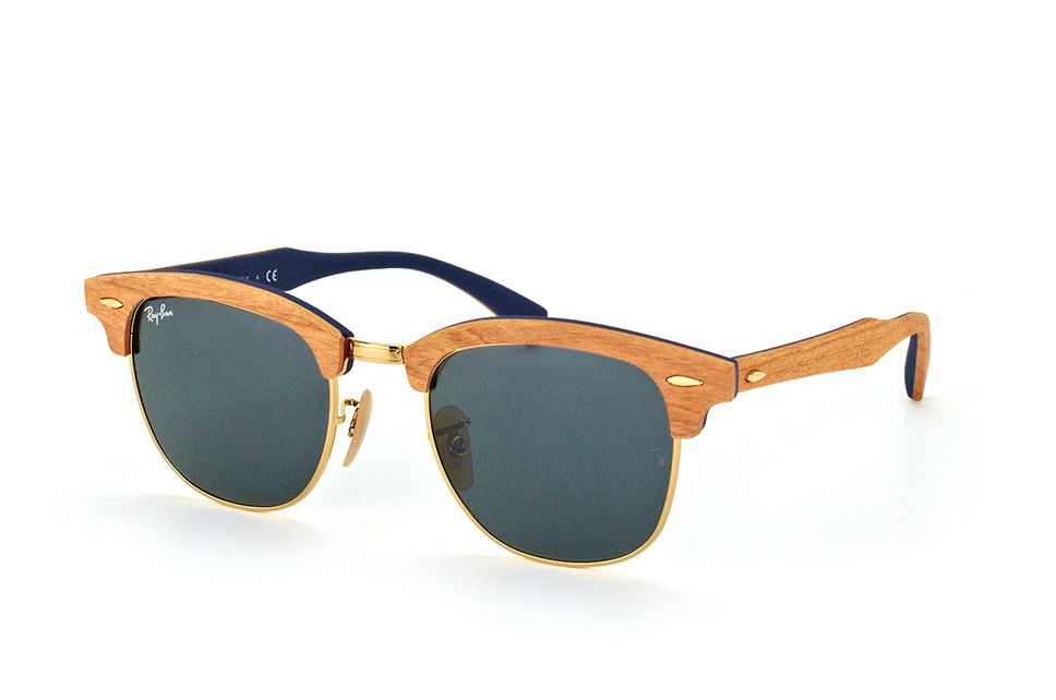 Lunettes de soleil Ray-Ban RB3016-M Clubmaster Wood 1179 Taille 51 ... c793b7ed764d