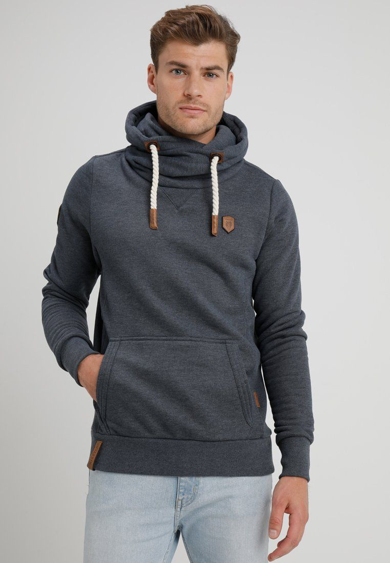 Naketano Hoodie indigo blue melange Zalando.co.uk
